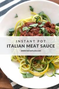 Instant Pot Italian Meat Sauce instantloss.com