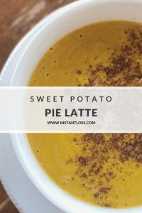 Sweet Potato Pie Latte instantloss.com