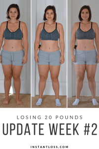 Losing 20 Pounds/Update Week 2 instantloss.com