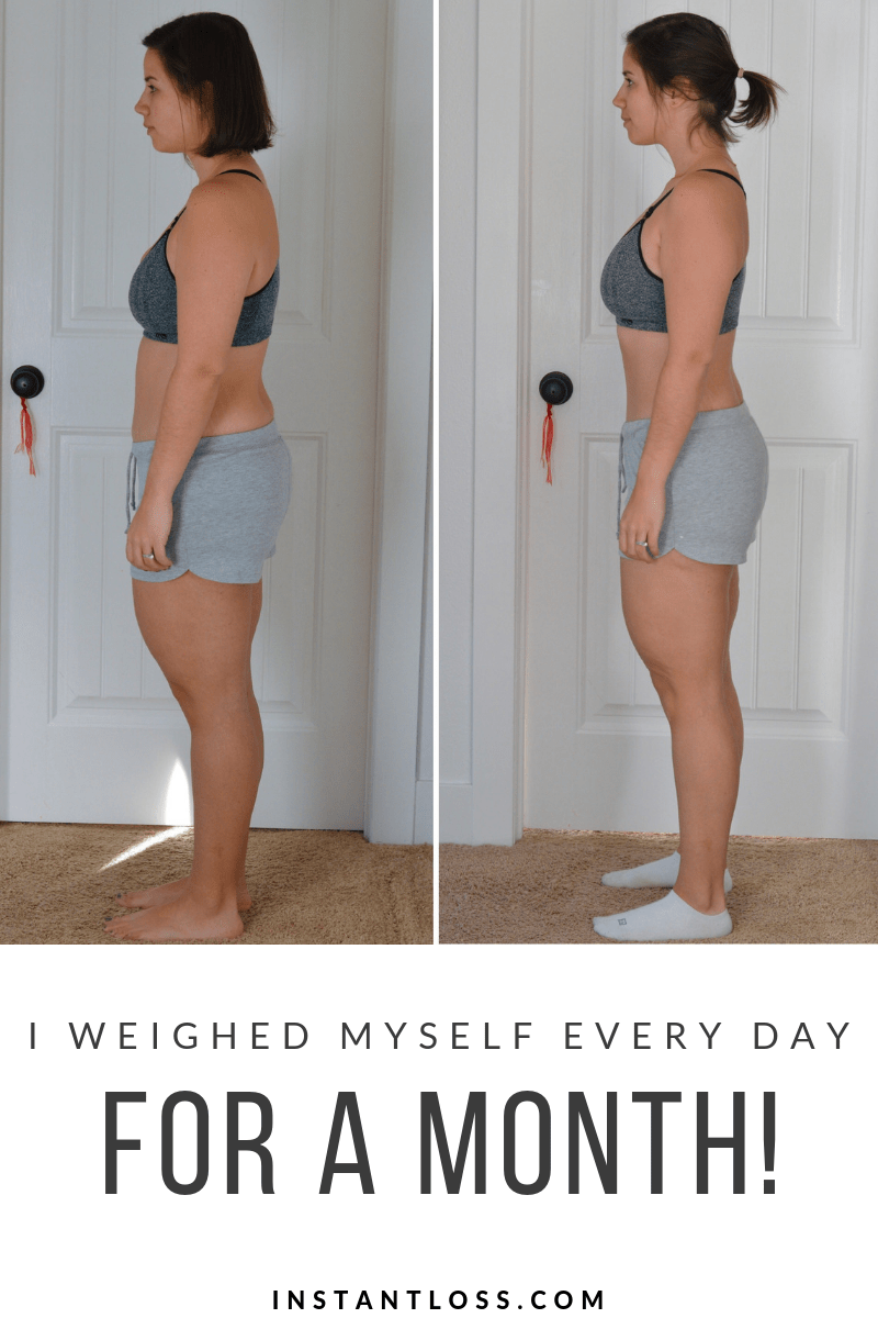 I weighed myself every day for a month instantloss.com