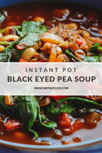 Instant Pot Black Eyed Pea Soup instantloss.com