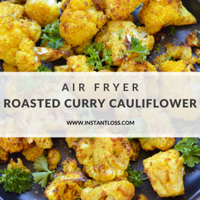 Air Fryer Roasted Curry Cauliflower
