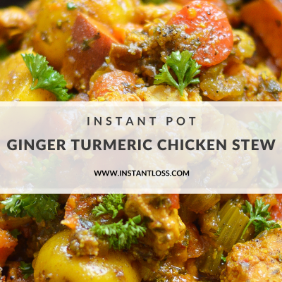 Instant Pot Ginger Turmeric Chicken Stew