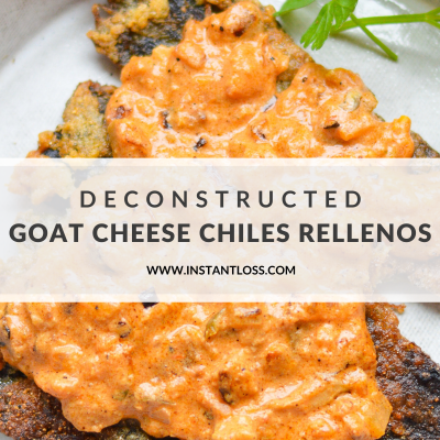 Deconstructed Goat Cheese Chiles Rellenos