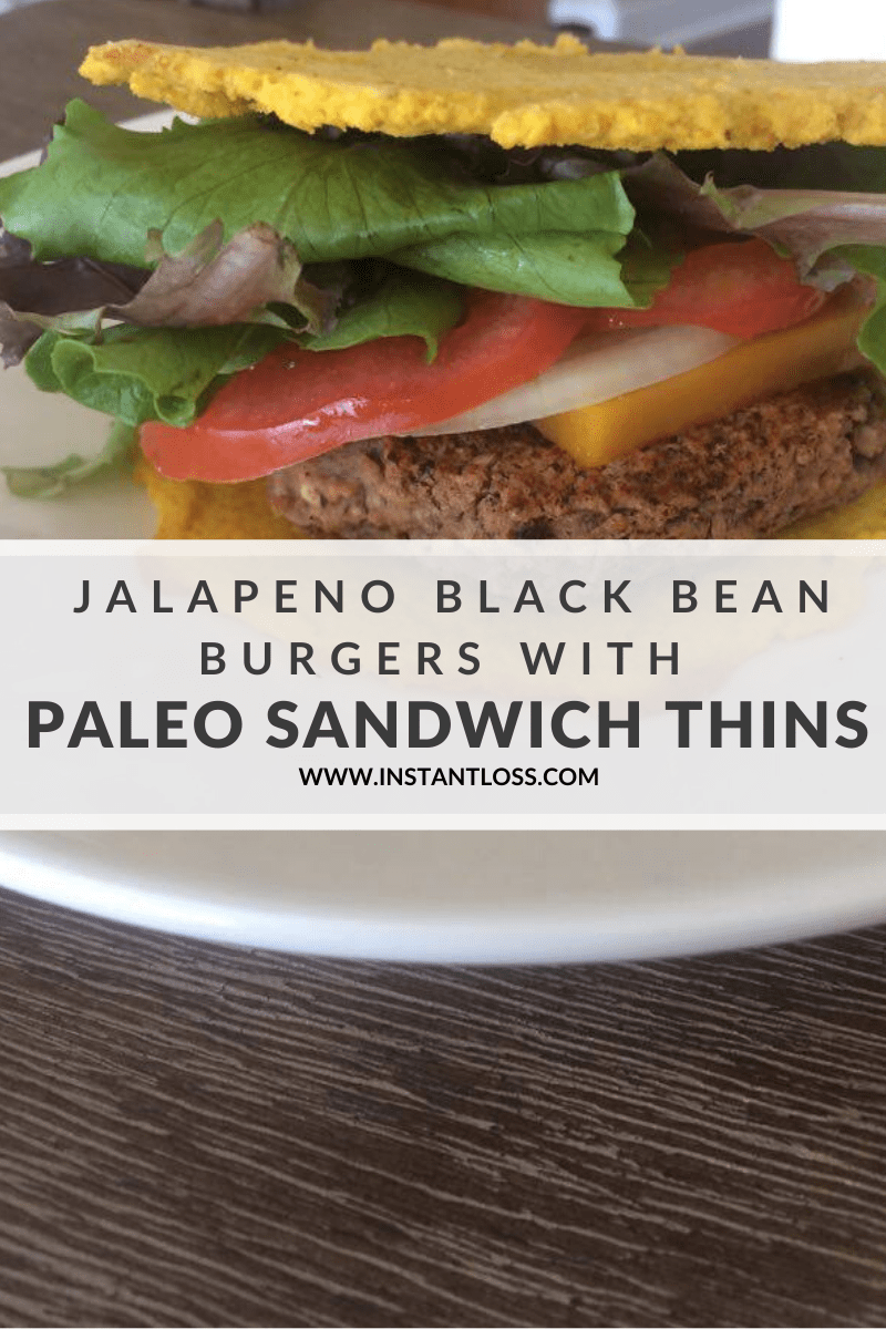 Jalapeno Black Bean Burgers With Paleo Sandwich Thins instantloss.com