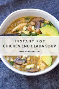 Instant Pot Chicken Enchilada Soup instantloss.com