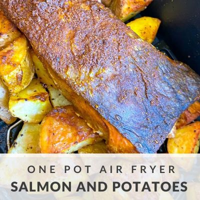 One Pot Air Fryer Salmon and Potatoes