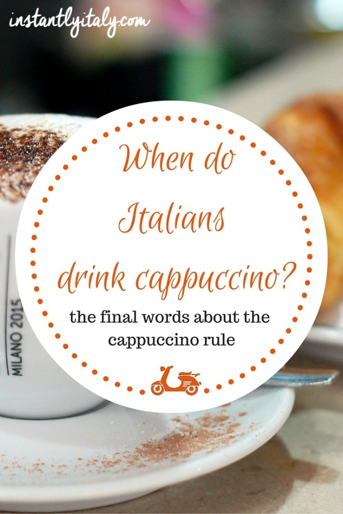 When do Italians drink cappuccino? Some thoughts about the cappuccino rule