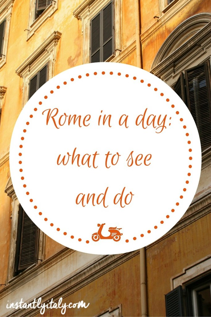 How to visit Rome in one day