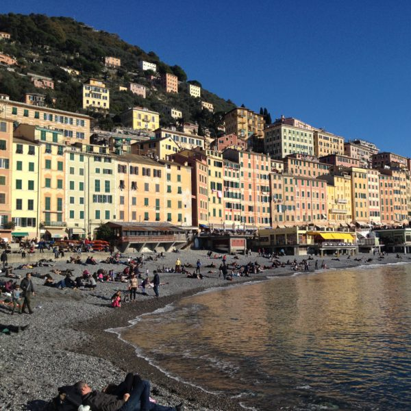 A seaside view of Camogli, Liguria