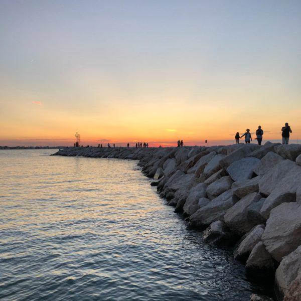 Rimini, the dock