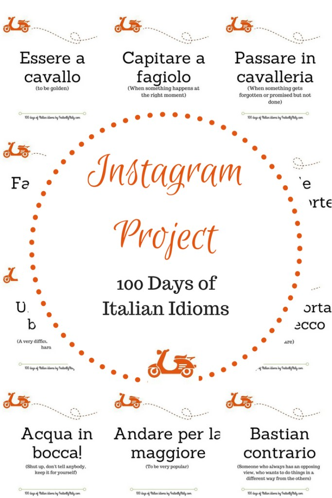 This is the 100 Days of Italian Idioms Giveaway on Instagram