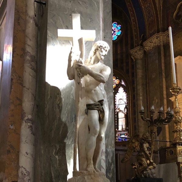 Michelangelo's Christ inside the church of Santa Maria sopra Minerva in Rome