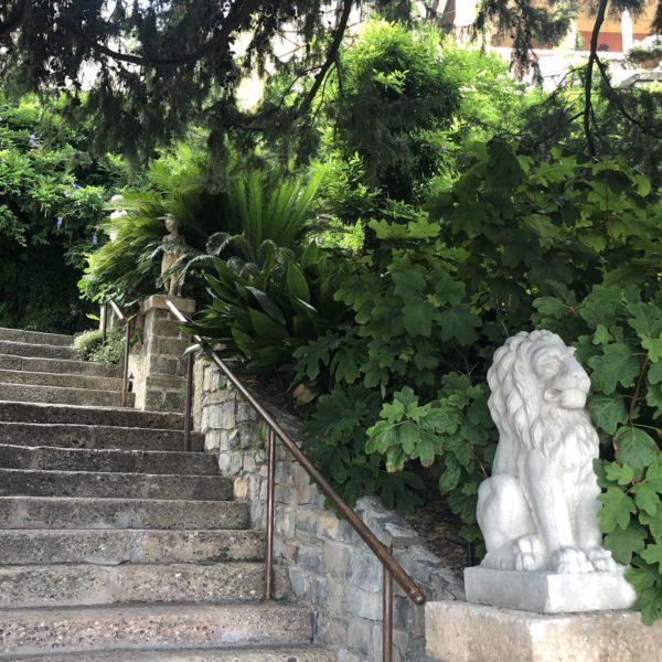 Villa della Pergola, a stair