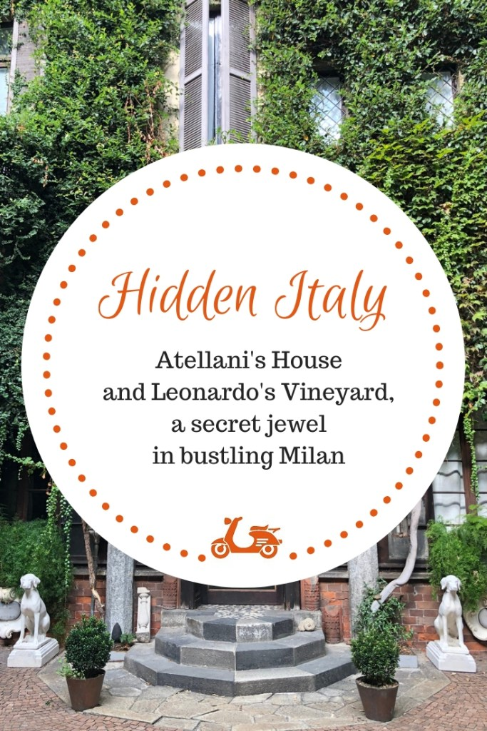 Casa degli Atellani has one of the best gardens in Milan, especially because it hosts Leonardo's vineyard, the vineyard who was gifted to Leonardo by Ludovico Il Moro.
