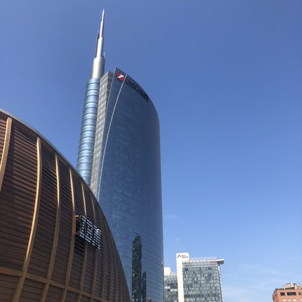 This is a view of the Gae Aulenti square in Milan