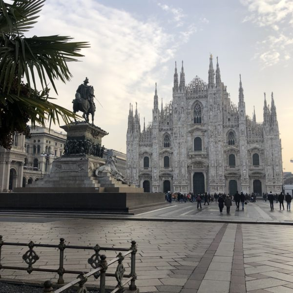 This is a view of the Duomo in Milan