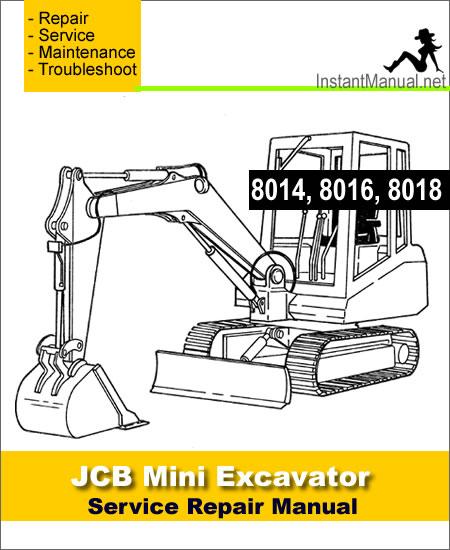 Jcb 8014 8016 8018 Mini Excavator Service Repair