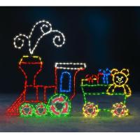 The 6 Foot Animated Holiday Locomotive Outdoor Christmas ...