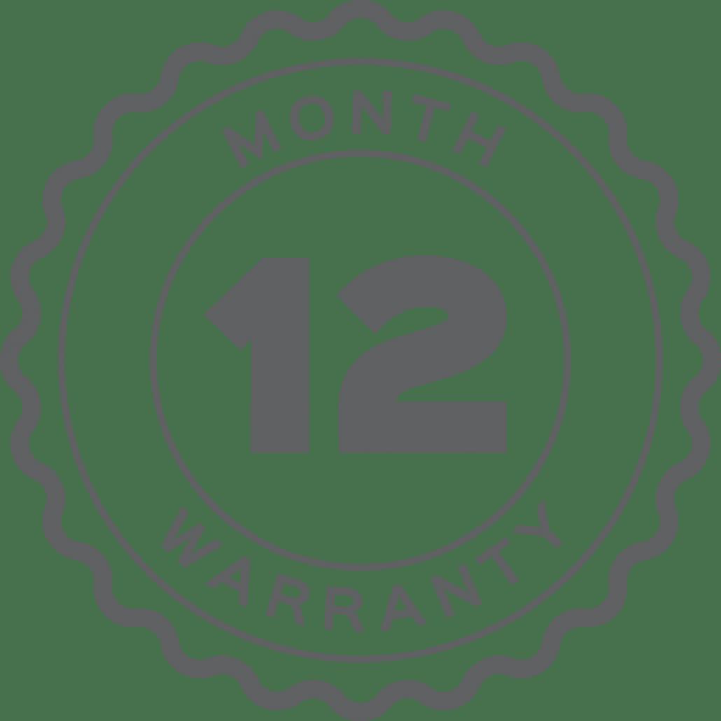 12 Month Warranty