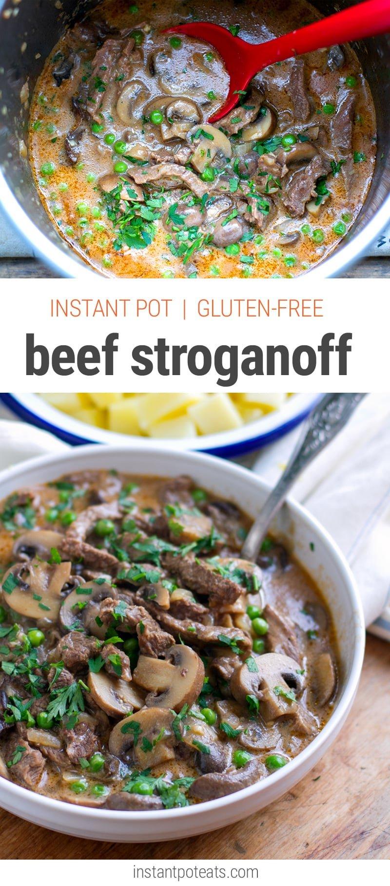 Quick & Easy Instant Pot Beef Stroganoff (Gluten-Free Recipe)