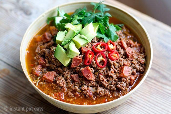 Instant Pot Chili With Beef & Chorizo