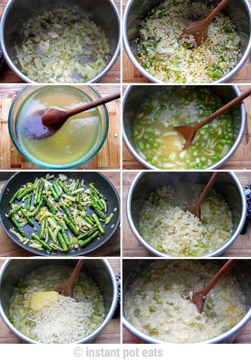 Making the pressure cooker risotto- - step-by-step pics