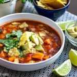 Instant Pot Tortilla Soup With Sweet Potatoes (Vegan, Vegetarian, Gluten-free)