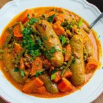 Instant Pot Curried Sausages & Peas