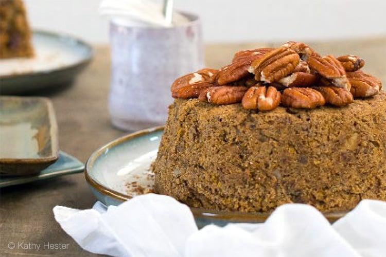 Instant Pot Holiday Orange Spice Cake (Vegan, Gluten-Free Option)