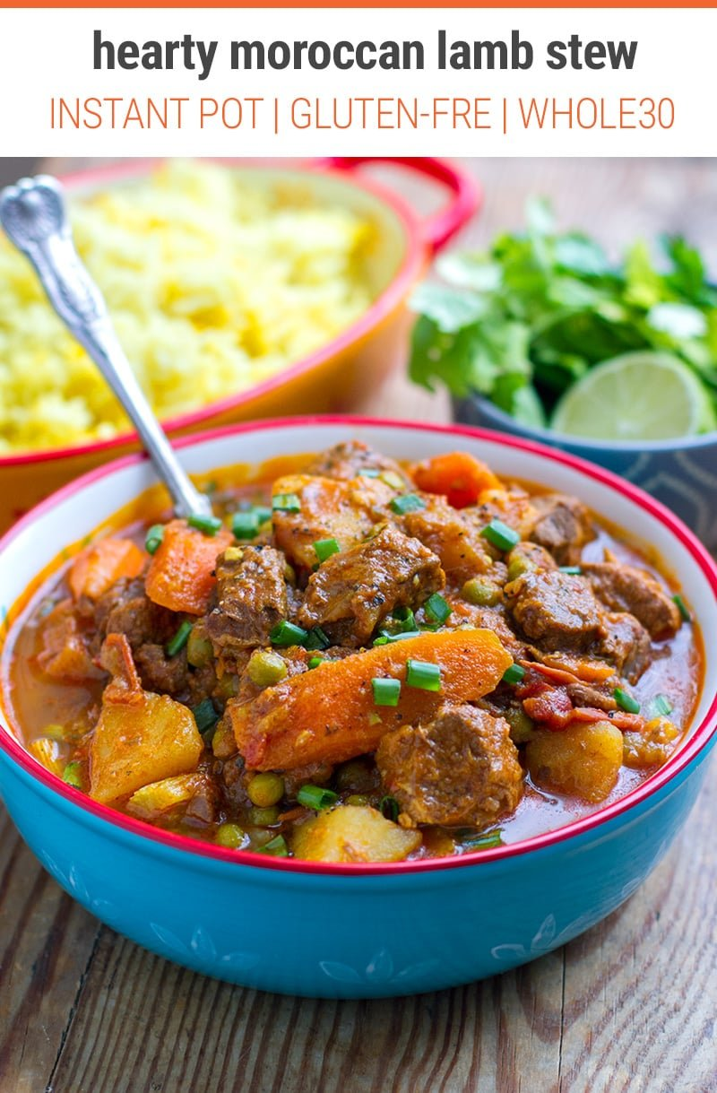 Instant Pot Moroccan Lamb Stew With Potatoes Instant Pot