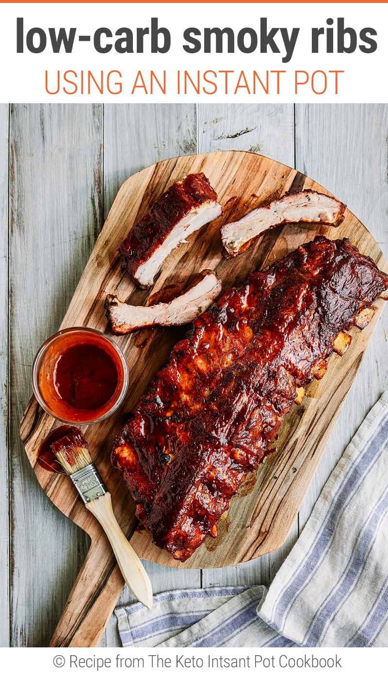 Instant Pot Barbecue Ribs Recipe (Smokey, Keto, BBQ, Low-Carb)