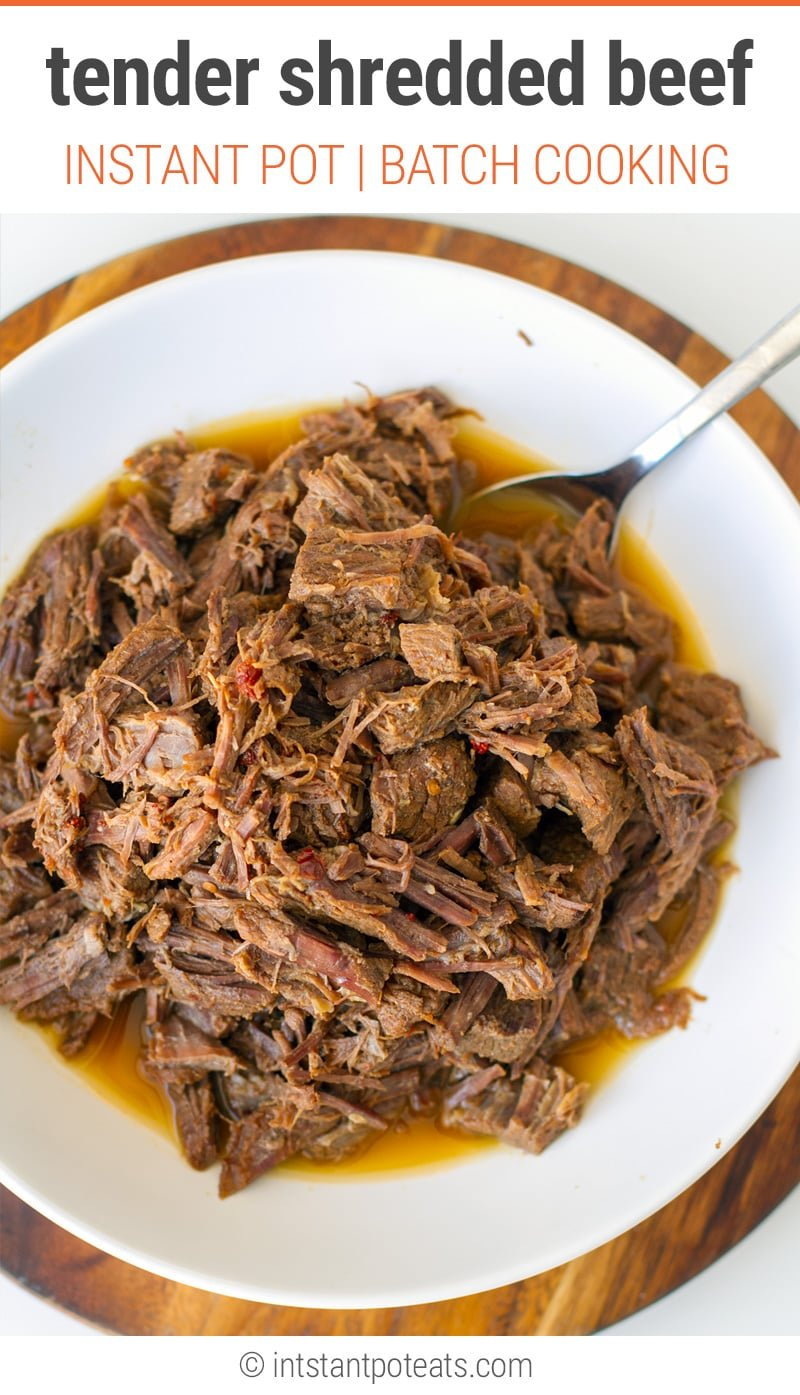 Instant Pot Shredded Beef (Paleo, Whole30, Gluten-Free, Keto)