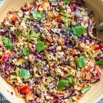 Instant Pot Brown Rice Salad With Peanut Butter Dressing