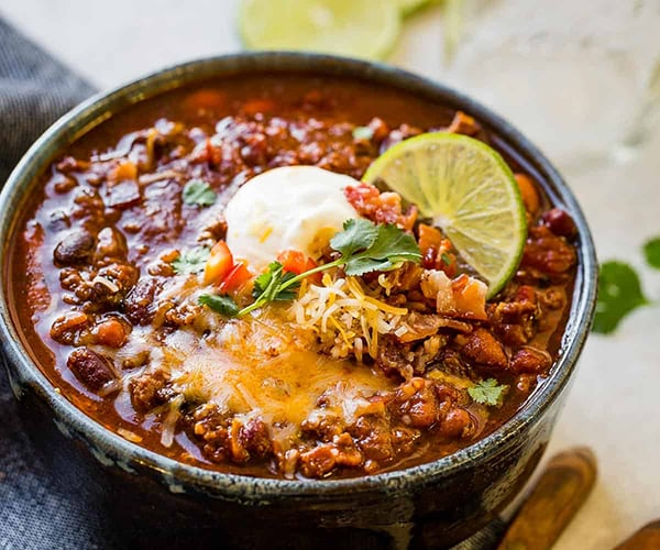 Instant Pot Super Bowl Chili OhSweetBasil