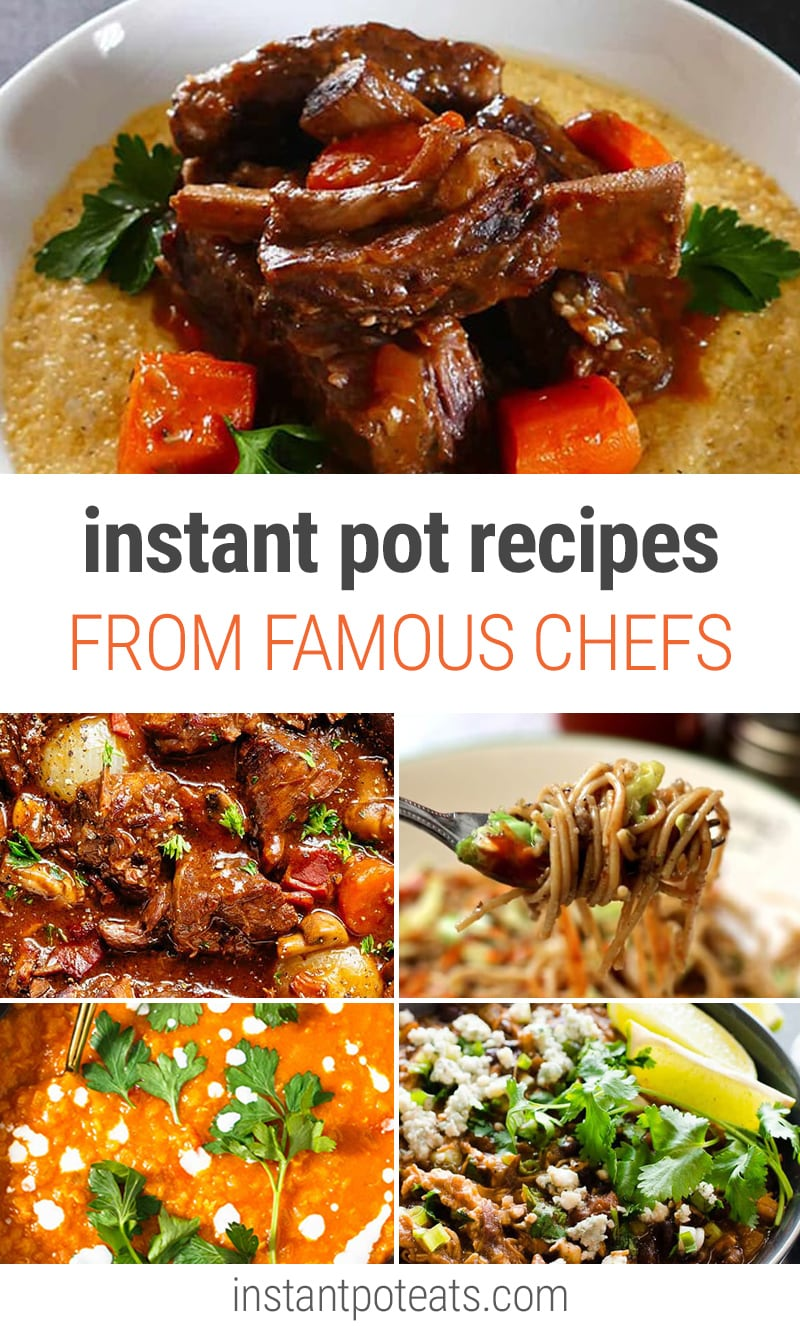 Instant Pot Recipes Adapted from Famous Chefs and Cookbook Authors | #juliachild #jamieoliver #gida #nigella #gordonramsay #beef #stew #rachelray #marthastewart