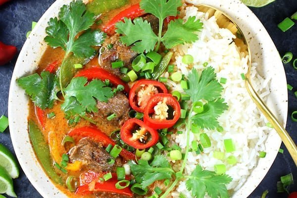 Instant Pot Thai beef curry