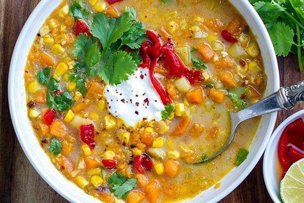 20+ Instant Pot Mexican Recipes: sweet corn soup