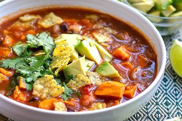 20+ Instant Pot Mexican Recipes: sweet potato tortilla soup