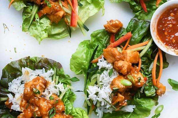 35+ Summer Friendly Instant Pot Recipes Orange Chicken Lettuce Wraps foodiecrush