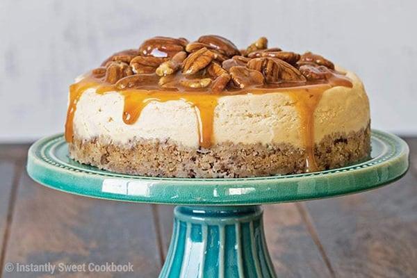 35+ Summer Friendly Instant Pot Recipes Carmel Pecan Cheesecake