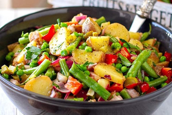 35+ Summer Friendly Instant Pot Recipes Potato Salad with Tangy Vinaigrette