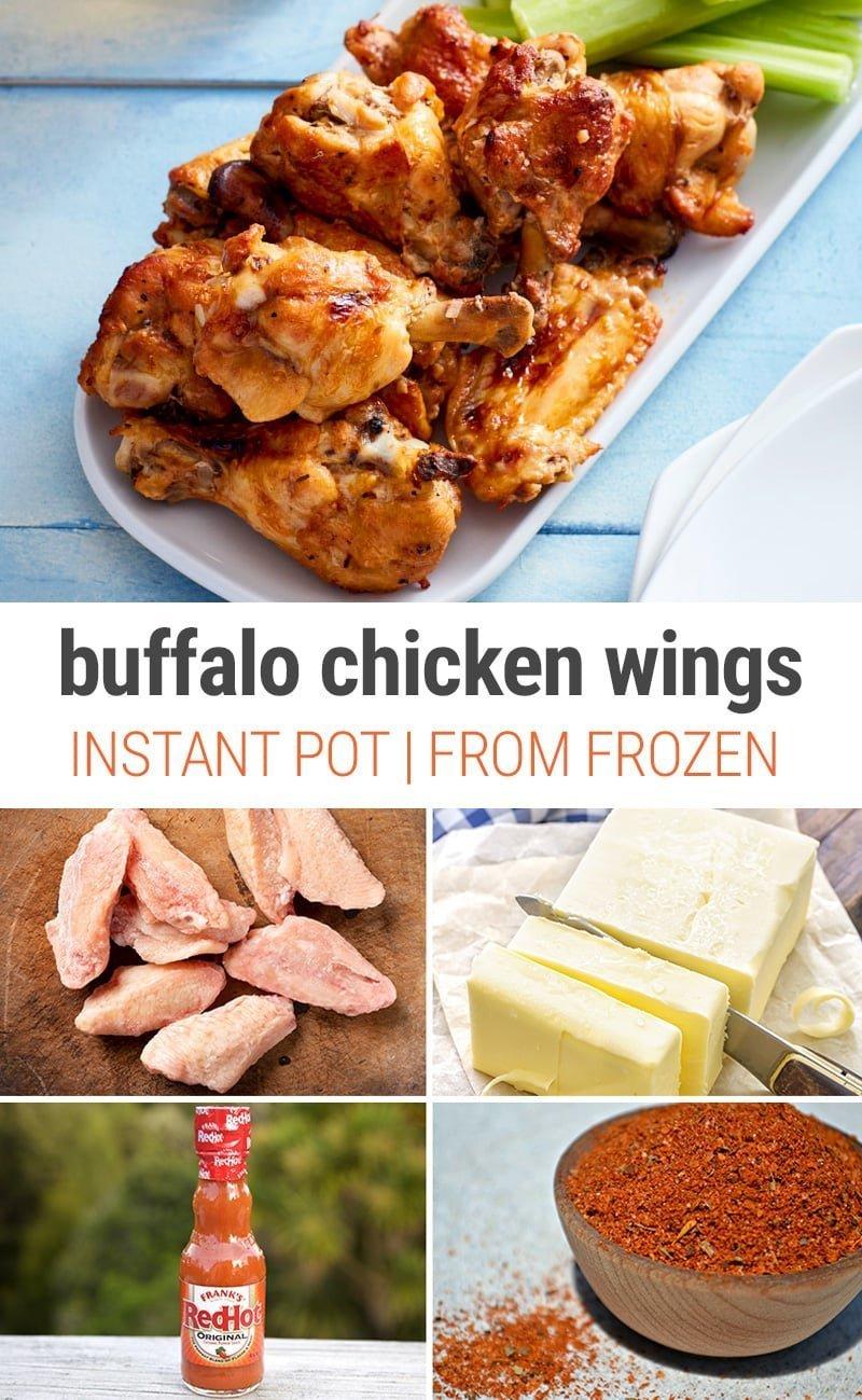 Instant Pot Buffalo Chicken Wings From Frozen   #frozen #pressurecooker #thaw #chickenwings #wings #buffalowings #partyfood #gameday