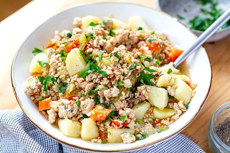 Ground Turkey Instant Pot Meals . Instant pot Ground Turkey & Potato Stew (Whole30, Gluten-Free)
