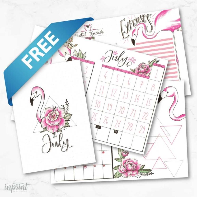 free bullet journal prints