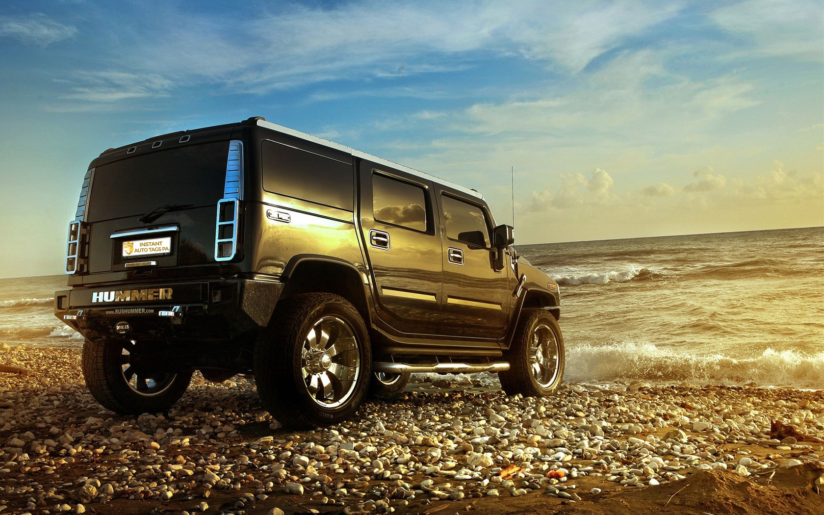 hummer near the sea