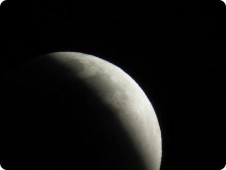 Zoom sur la Lune lors de l'éclipse du 27/09/2015 à Armenia