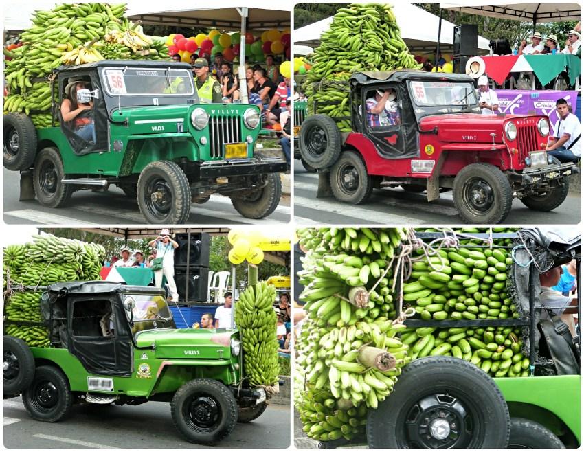 4 jeeps en esta categoría en el desfile del Yipao en Armenia