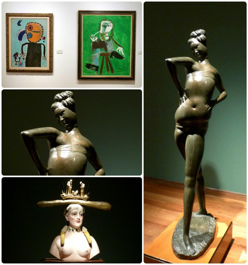 Tableaux et sculptures d'artistes au Musée Botero de Bogotá