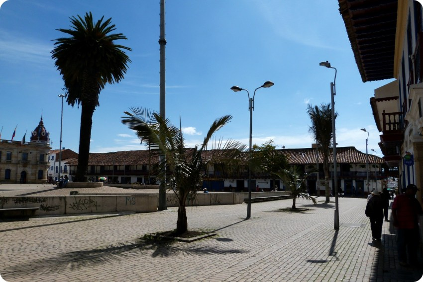 Plaza central de Zipaquira